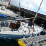 Paul sailed his Contessa 26 in 18 days here from the UK